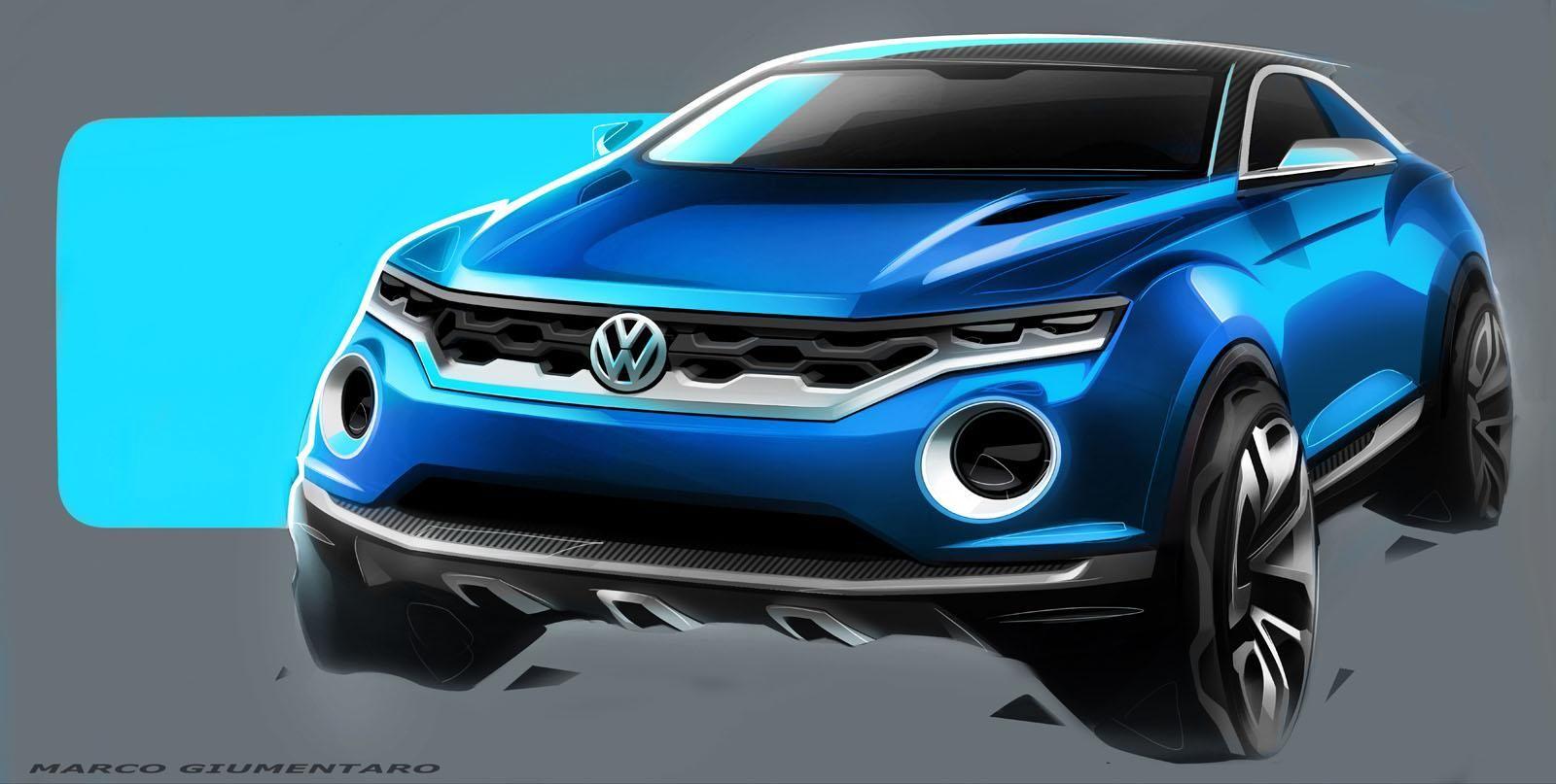 Volkswagen T Roc Concept Automotive Exterior Rendering