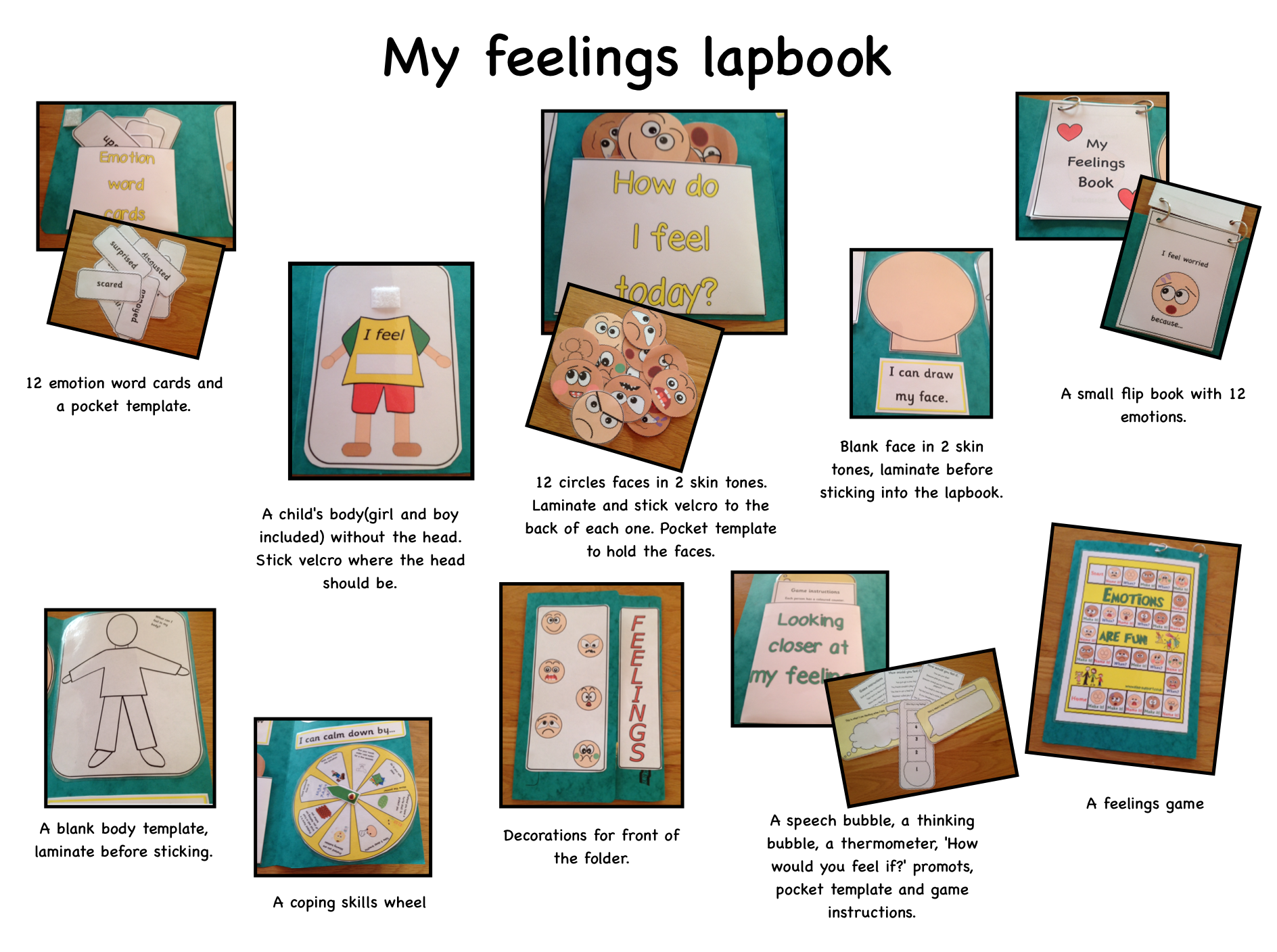 Feelings Lapbook In