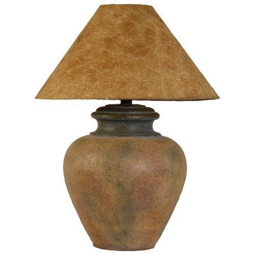 H6011wd Terracotta Hydrocal Urn Table Lamp Rustic Table Lamps Southwestern Table Lamps Floor