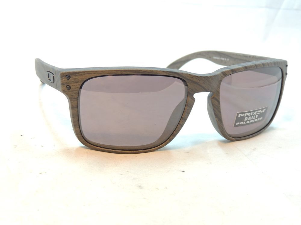 f4addf76d9c3c eBay  Sponsored Oakley Holbrook 9102 Woodgrain Prizm Daily Polarized  Sunglasses 57 18 137