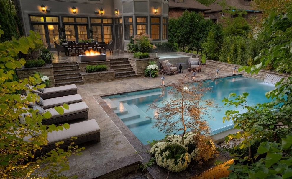 Pool backyard oasis ideas attractive backyard oasis for Garden oases pool entrance