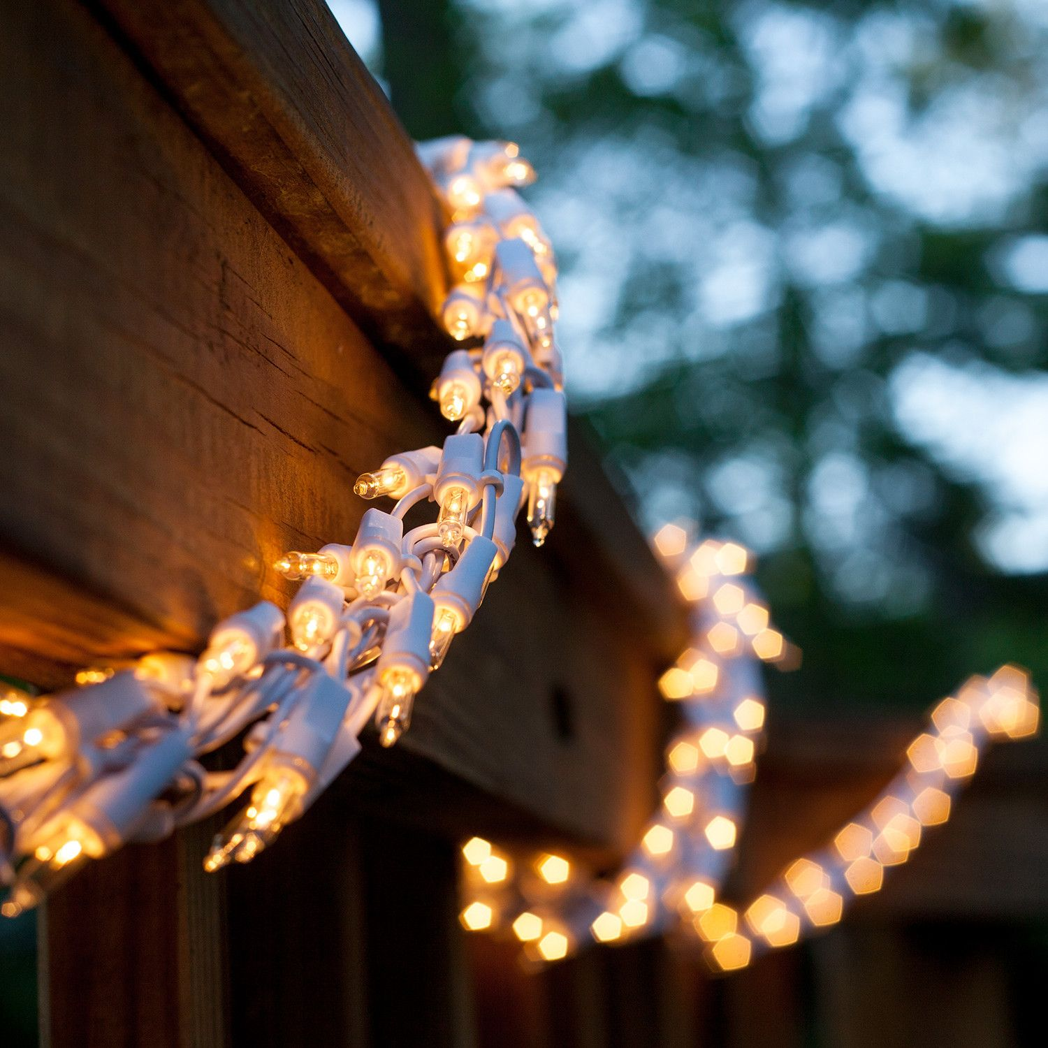 Garland Lights 18 Garland Lights 600 Clear Lamps White Wire Christmas Lights Etc Decorating With Christmas Lights White Wire Christmas Lights Outdoor Christmas Lights