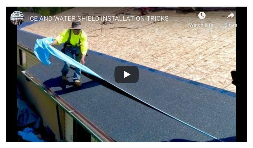 Peel And Stick Roofing Membrane Installation Jpg In 2020 Gutter Drainage Solutions Membrane Roof Installing Siding