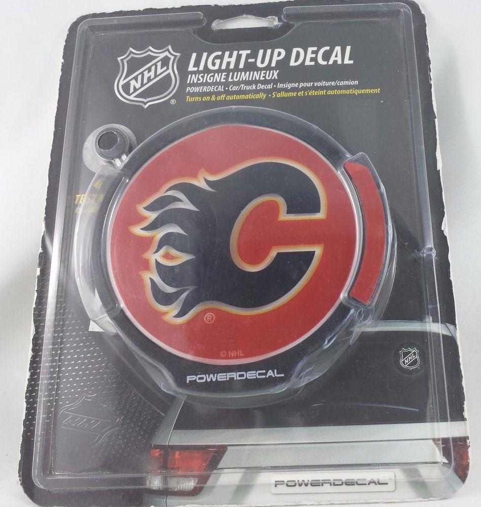 Calgary Flames Nhl Light Up Power Decal For Car Or Truck Sports Mem Cards Fan Shop Fan Apparel Souvenirs Hockey Nhl Calgary Flames Car Decals Calgary