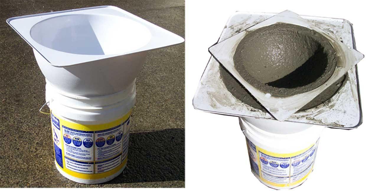 3 Concrete Sphere Mold Set.  DIY concrete sphere casting.  Professional reusable molds