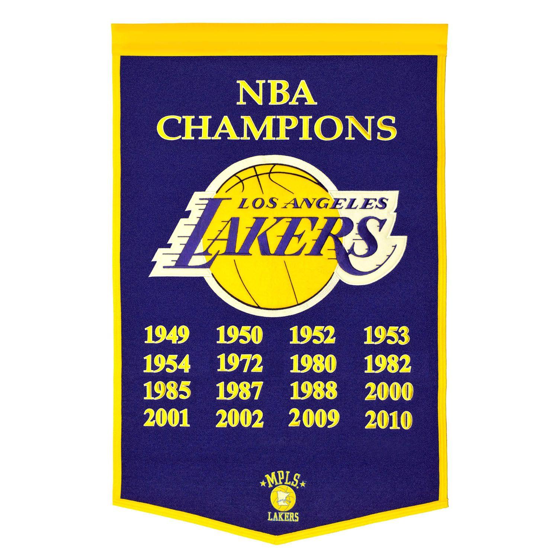 La Lakers Banner Lakers Championships Nba Champions Los Angeles Lakers