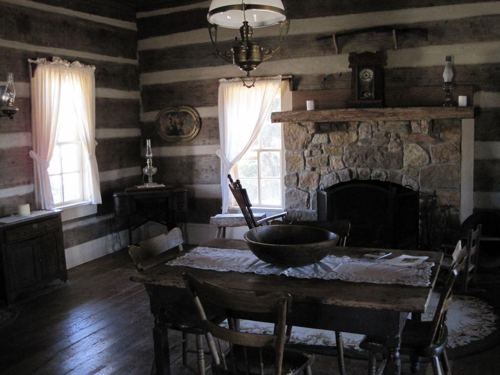 old log cabin interior description green frog village bells tn