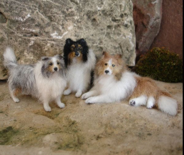 Lucy Maloney tips for creating mini dogs.  A way to hold onto the sweetness of every Sheltie my heart has loved and misses.
