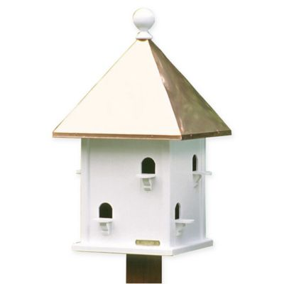 Best Square Birdhouse With Copper Roof White Copper With 400 x 300