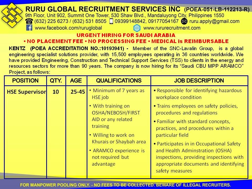 Pin by Ruru Global Recruitment Services, Inc  on Job