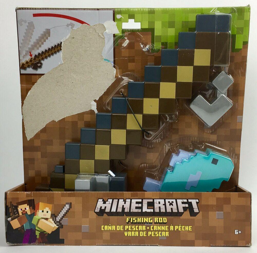 Minecraft Fishing Pole Magnetic Toy Minecraft Fishing Rod Playset