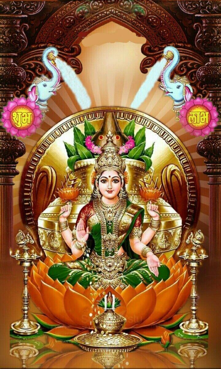 Ghaja Lakshmi Indian Gods Durga Goddess Saraswati Goddess