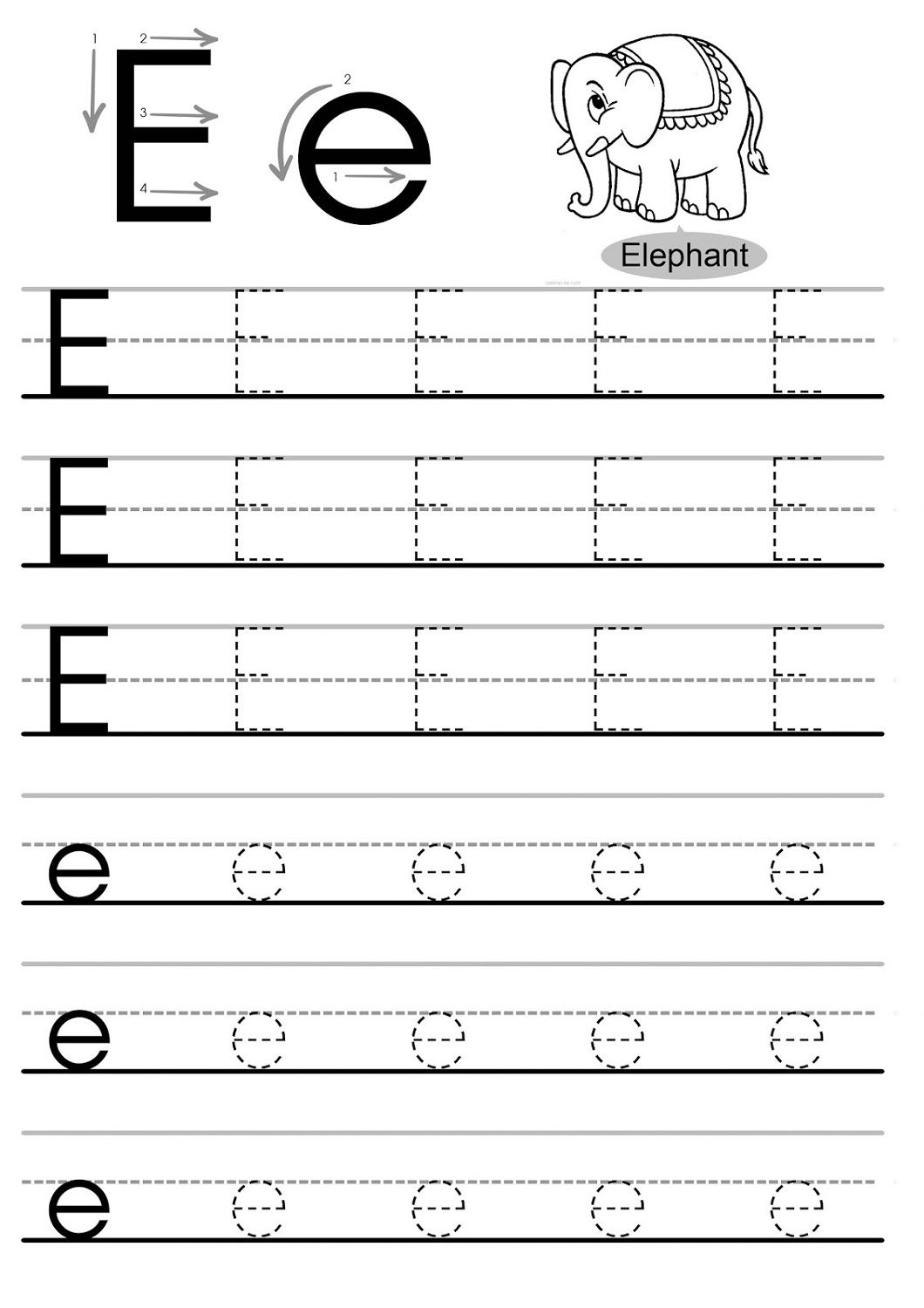 Traceable Letter Worksheets