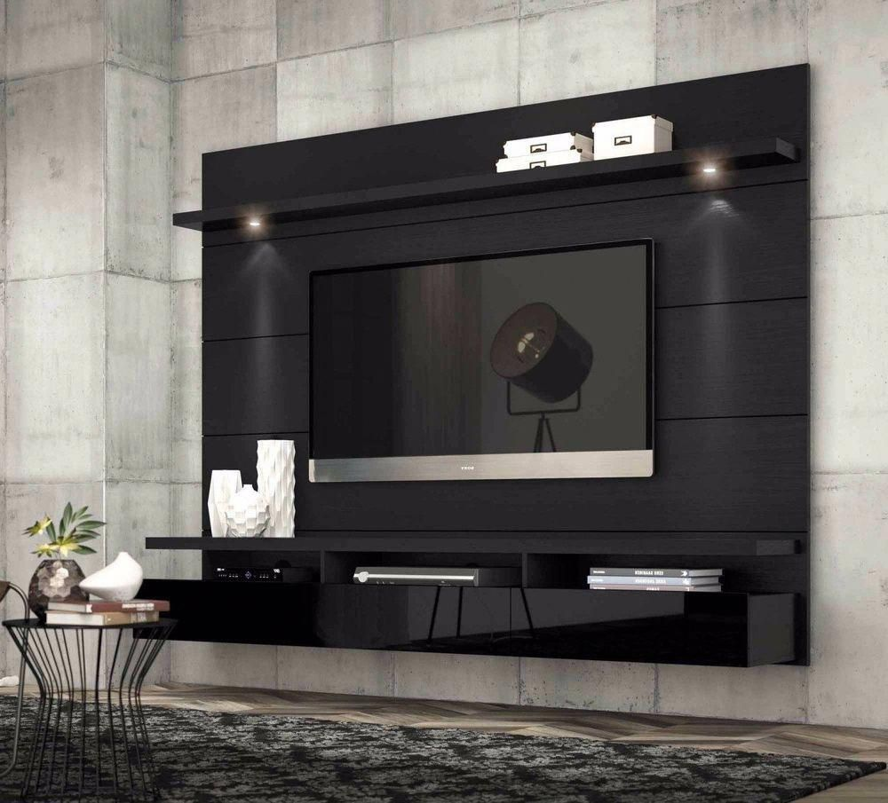 Entertainment center modern tv stand media console wall mounted furniture black home garden furniture entertainment units tv stands ebay