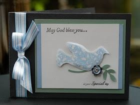 Stampin Up Special Blessings Christening card..