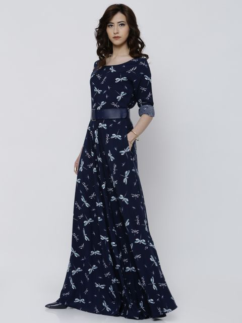 a99871c53f53 Buy Tokyo Talkies Women Navy Blue Printed Maxi Dress - - Apparel for Women  from Tokyo Talkies at Rs. 2049