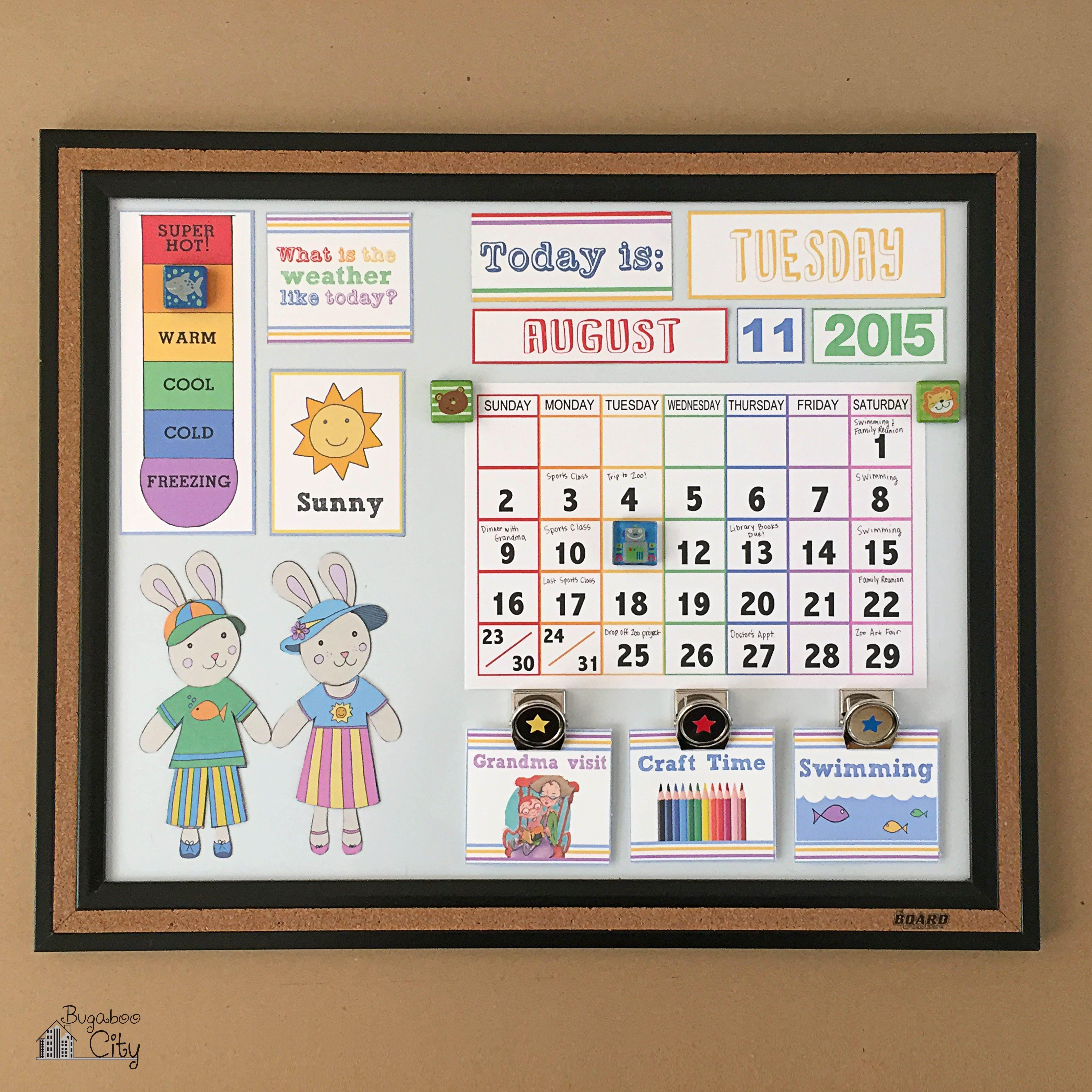 Diy Calendar Nz : Diy toddler calender magnet board lots of free