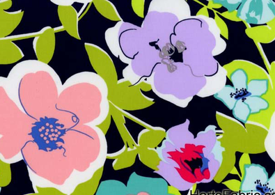 SALE: Large Floral Printed Cotton from Art Gallery Fabrics in Navy