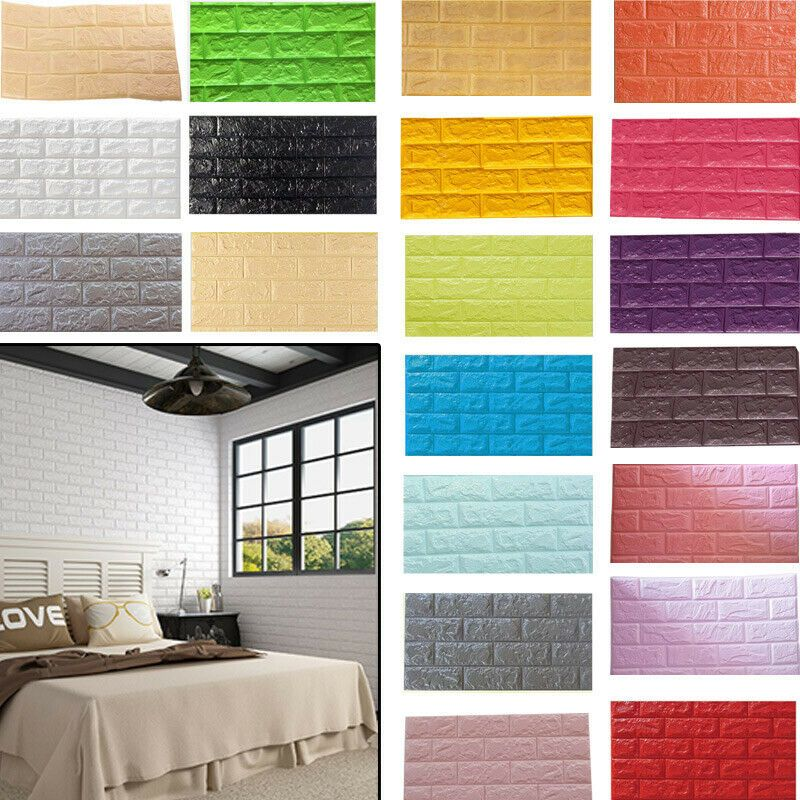10pcs 3d Self Adhesive Pe Foam Wall Stickers Home Decor Embossed Wallpaper Occa Wallpaper Ideas Of Wallpaper Wallpaper With Images Home Decor Wall Stickers Home Home