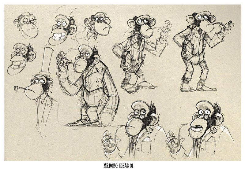Concept Sketches of the Monkey