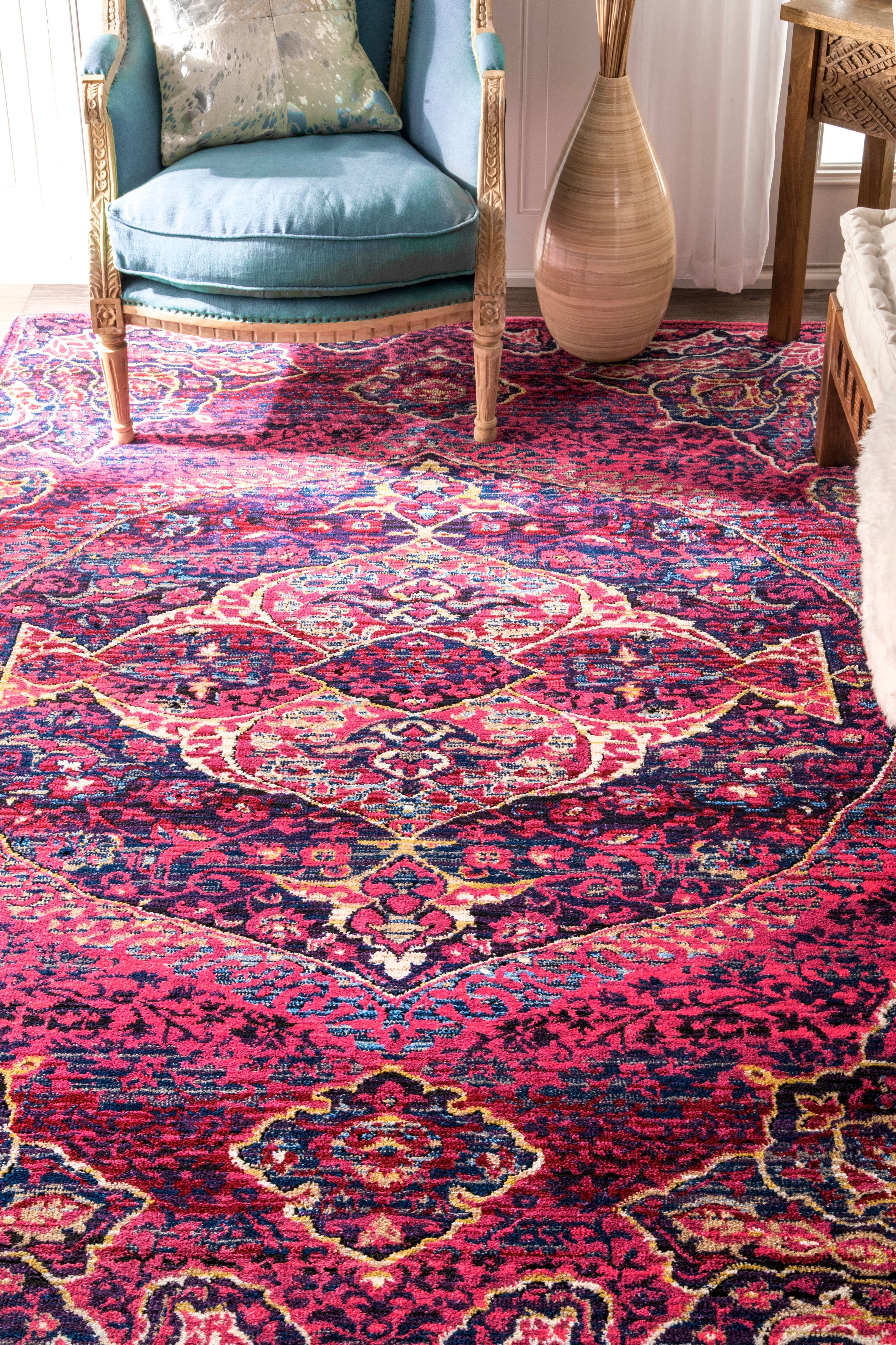 105 50 With Pad Nook Rugs Usa Fantasy Frilly Oriental Emblem Rug Rugs Area Rugs Braided Area Rugs
