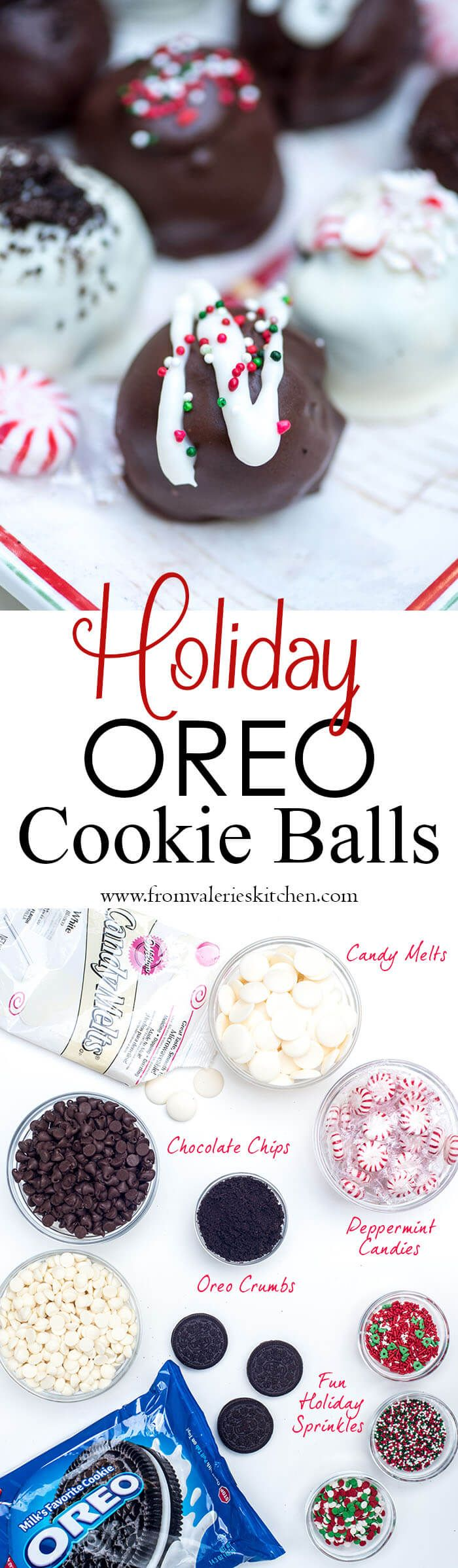 These delicious no-bake Holiday Oreo Cookie Balls are rich and ...