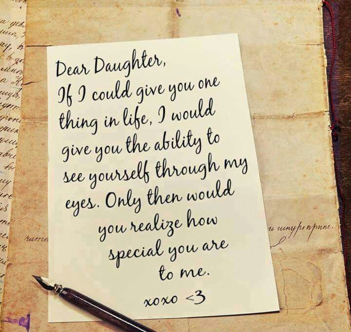 How special you are to me letter