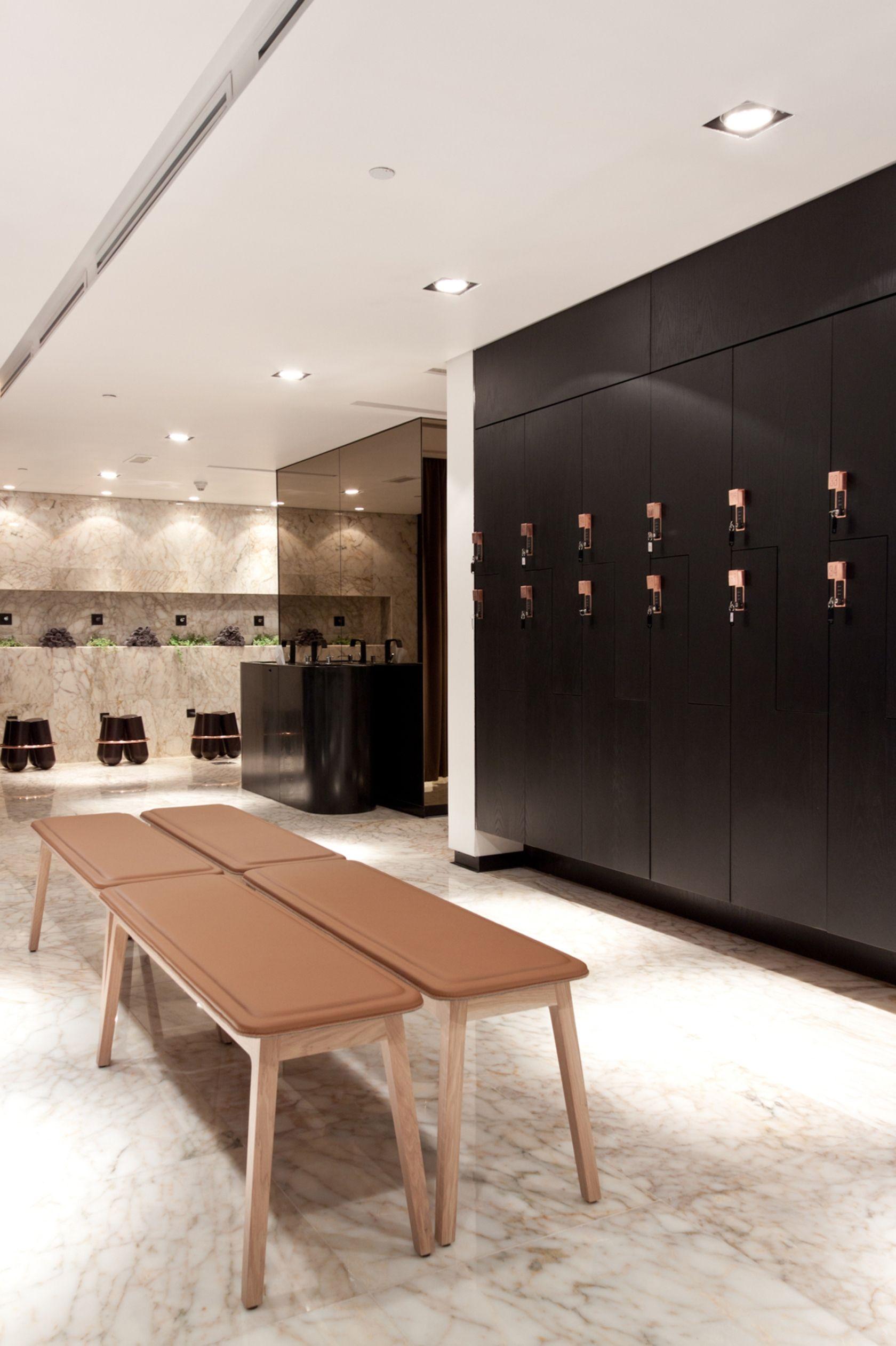 Luxury Locker Room Design | The Yoga Center in 2019 | Gym ...