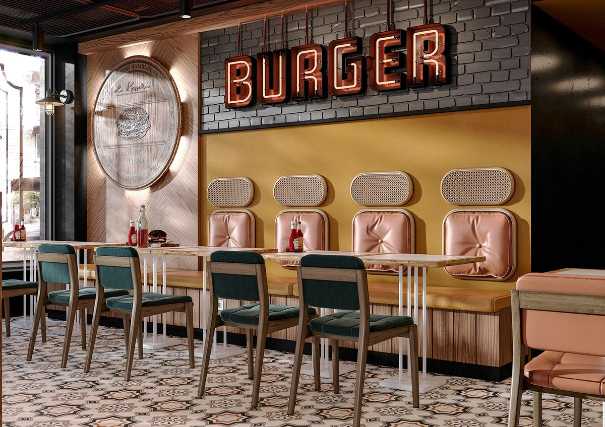 burger restaurant on Behance Burger restaurant