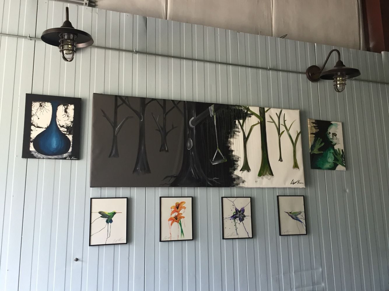 My artwork hanging up in Pipedream brewing Londonderry NH