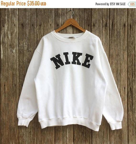 Rare Vintage Nike Spell Out Logo Nike Sweatshirt Nice Design Etsy Vintage Nike Sweatshirt Sweatshirts Nike Sweatshirts