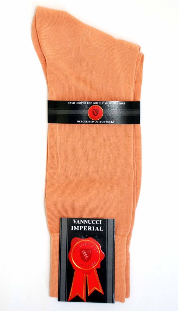 8c5e9c9845b Mens Dress Sock - Vannucci - Peach Solid Color and HOT pink like SHOES