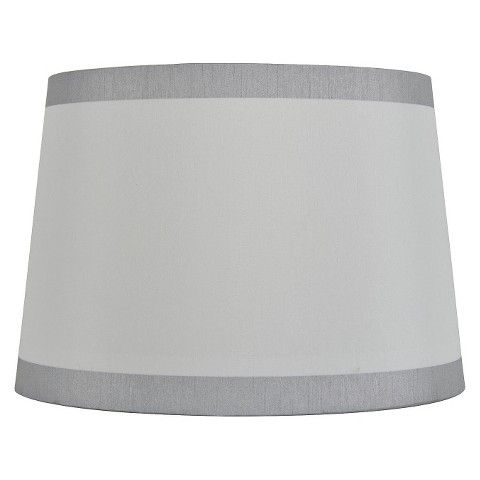 Threshold linen with silver trim lamp shade decor pinterest threshold linen with silver trim lamp shade aloadofball Gallery