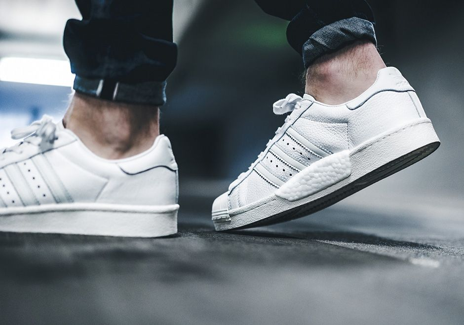 """latest fashion stable quality best selling adidas Superstar Boost """"Leather Pack"""" All White   Adidas ..."""