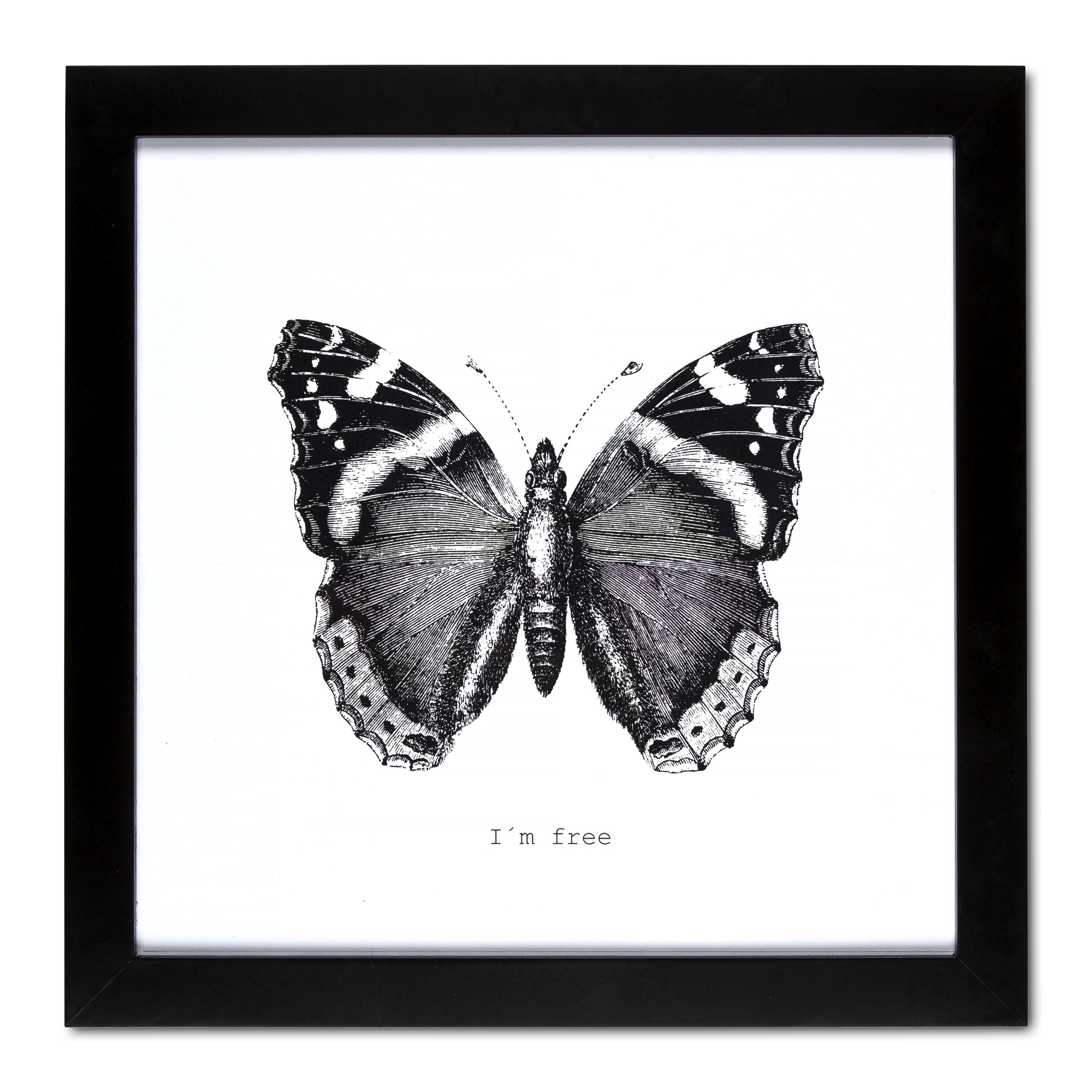 tavla med fjärilsmotiv