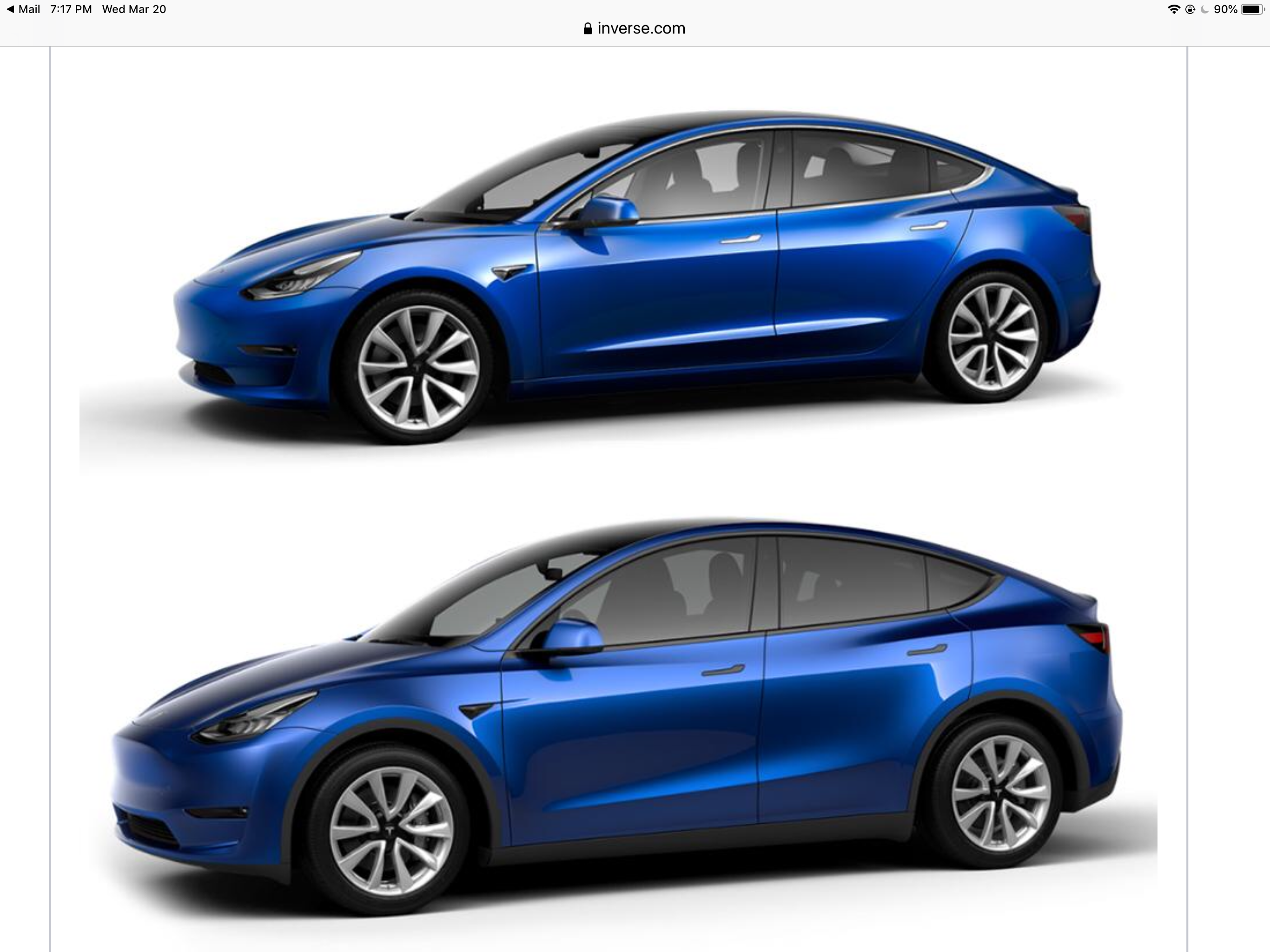 Side By Side Comparison Between The Tesla Model 3 And Model Y Tesla Car Tesla Tesla Model