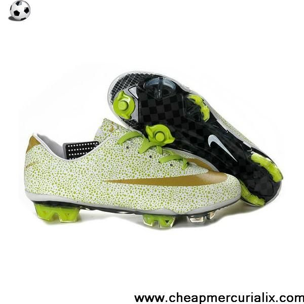 017560ebd Cheap Cristiano Ronaldo Nike Mercurial Vapor Superfly III FG White Gold  Volt Safari Newest Now