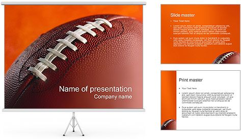 Free American Football Training Powerpoint Template American