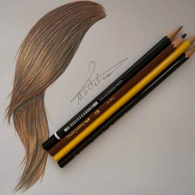 Pin By Nawress Nawress On رسم How To Draw Hair Color Pencil Art Drawings