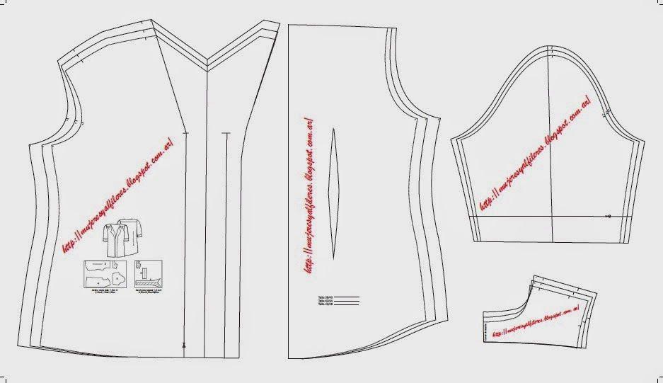 Mujeres y alfileres: Molde de blusa de gasa para descargar gratis ...