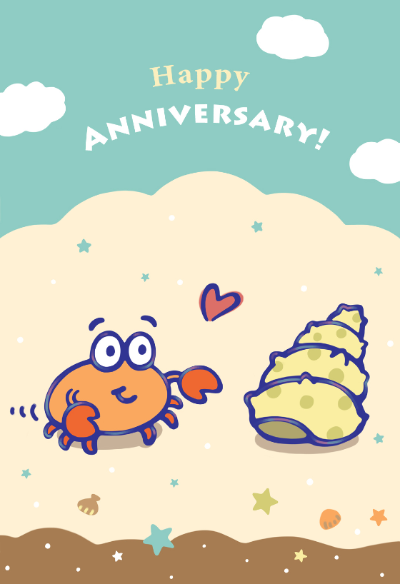 image about Printable Anniversary Cards Free Online named Though I Found out Yourself - Joyful Anniversary Card (Absolutely free pores and skin treatment