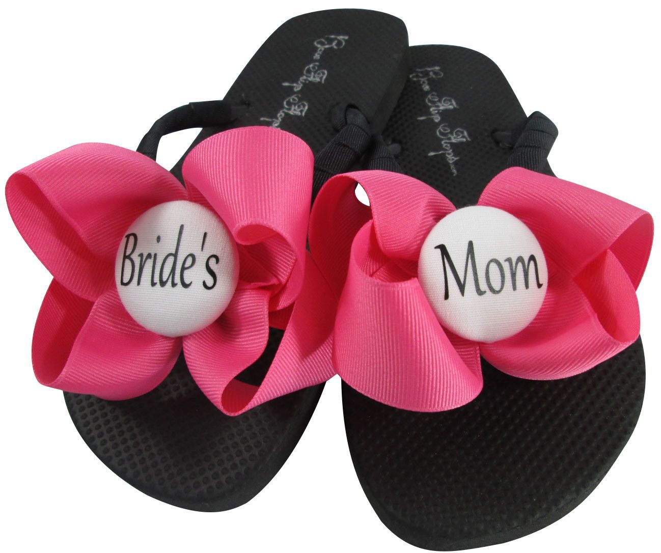 Hot Pink Mother of the Bride Flip Flops for the Wedding   Mothers ...