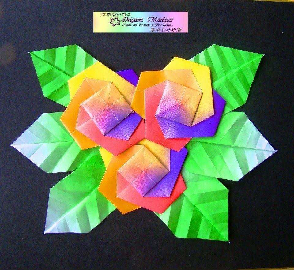 Origami Maniacs 73 Origami Flower Picture Cuadro De Flores De