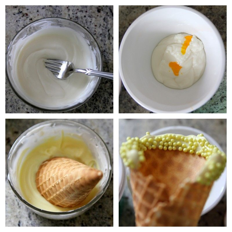 Dipped Ice Cream Cone tutorial on by Shiny Happy Sprinkles for I Heart Nap Time