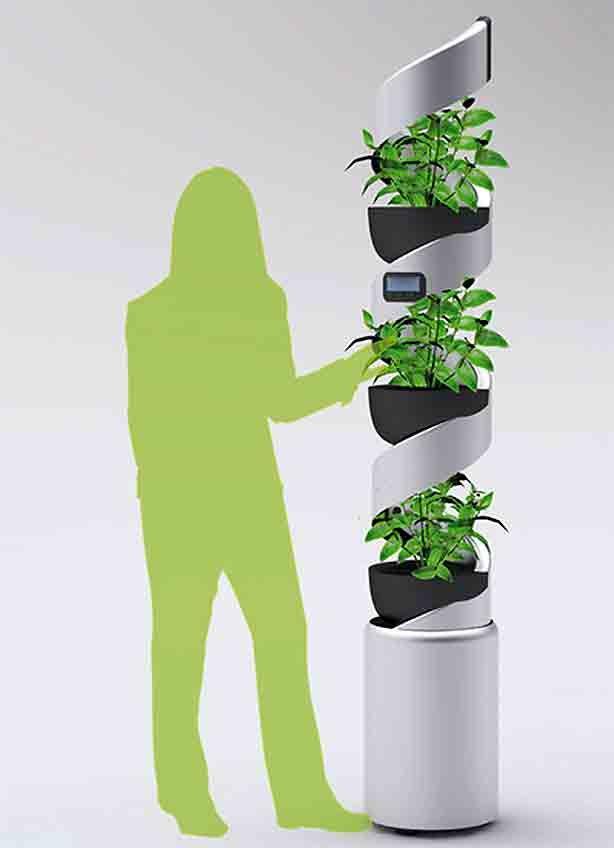 Binnen sla (en andere planten) kweken op water. Verticale hydroponic ...