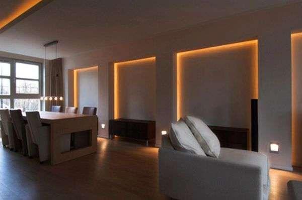 ledstrip woonkamer - Google zoeken | Wandverlichting Woonkamer en ...