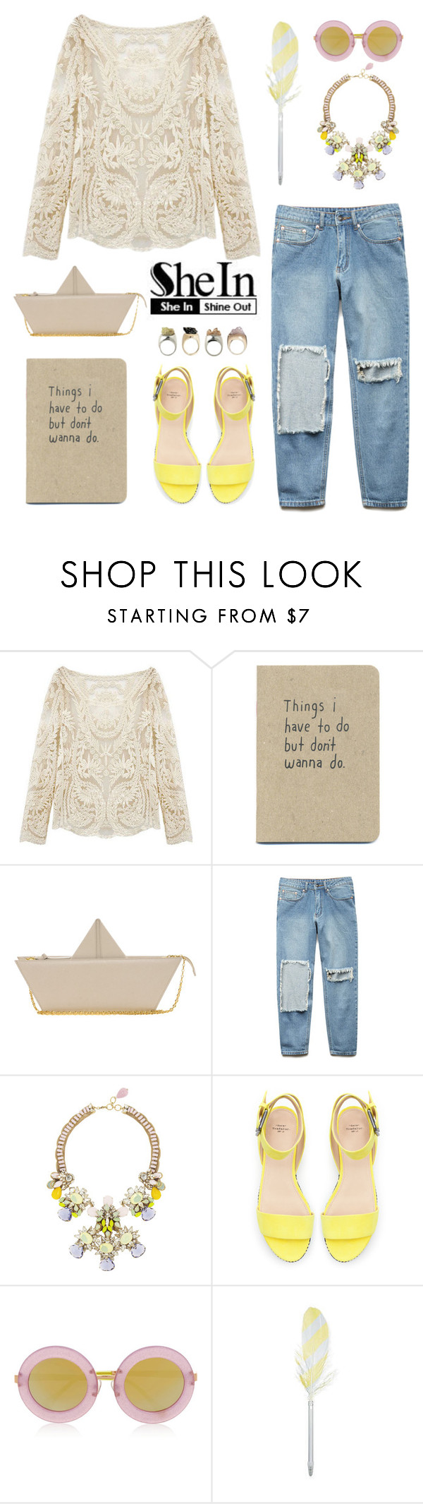 """Beige"" by a-hint-of-nutmeg ❤ liked on Polyvore featuring мода, Moschino Cheap & Chic, Forever 21, Bijoux Heart, Zara, Markus Lupfer, HAY, women's clothing, women и female"