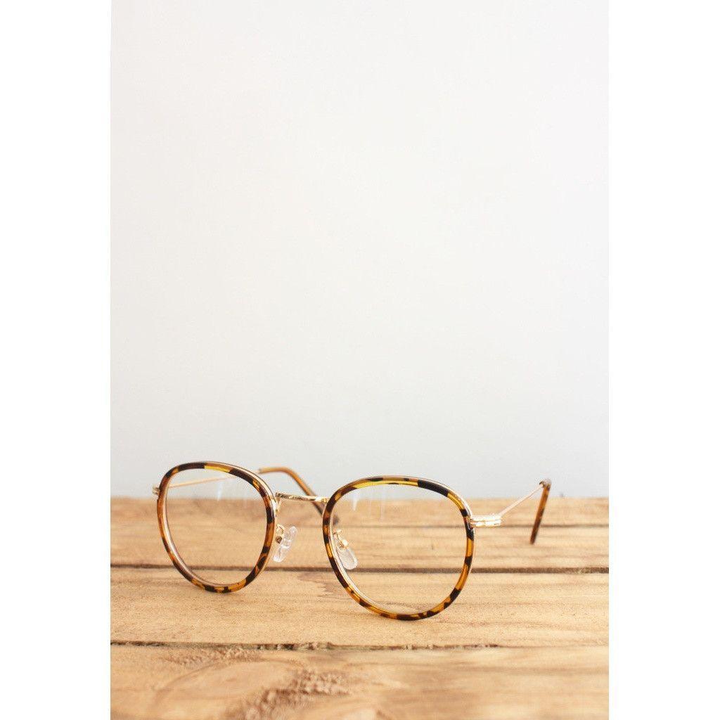 Retro Tortoise Shell Rim Eyeglasses