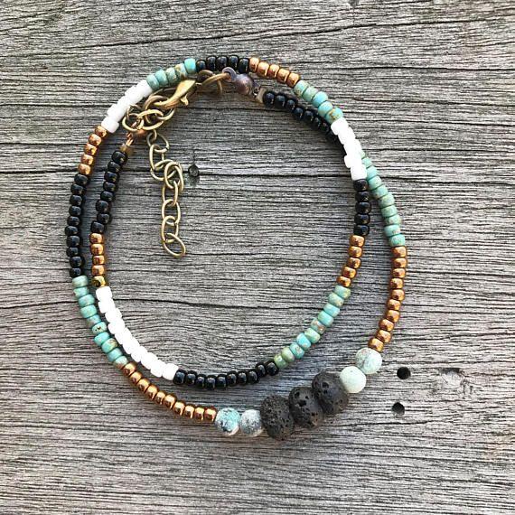 Essential Oil Diffuser Bracelet Lava Bead Bracelet Beaded Bracelet