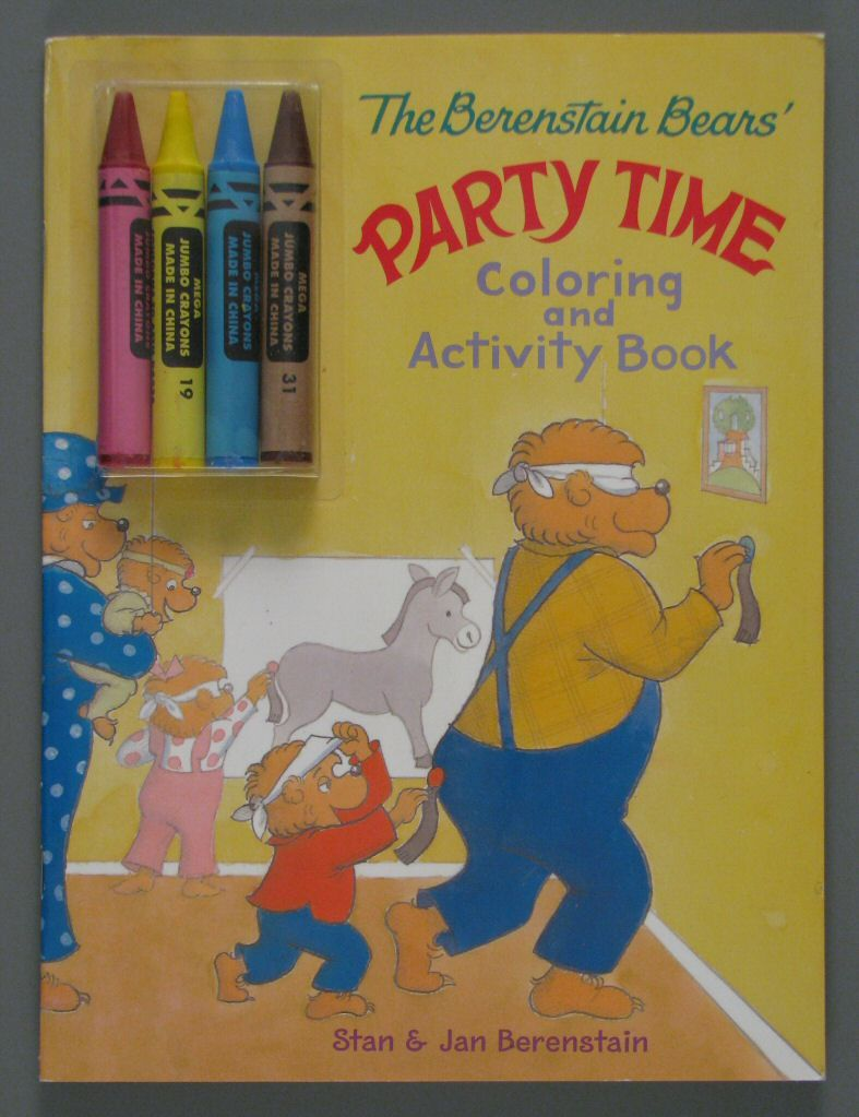 The Berenstain Bears\' Party Time Coloring and Activity Book ...